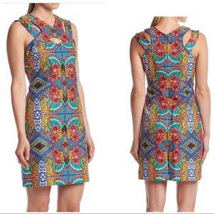 NWT Taylor Printed Floral Sleeveless Dress Sz 14